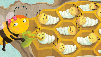New illustration project for Chirp magazine – Beezly the Bee