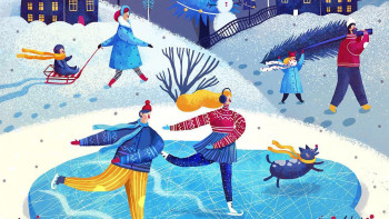 Winter skaters