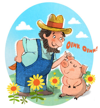 Farmer Brown's Pet Pig
