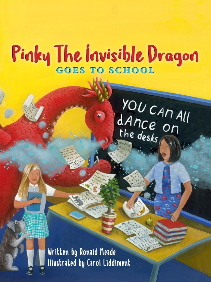 Pinky the Invisible Dragon goes to School