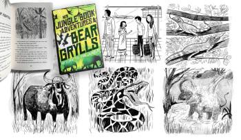 New jungle book adventure - BEAR GRYLLS - Spirit of the jungle., Client: Macmillan (UK).
