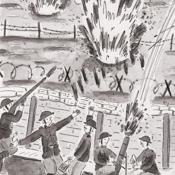 Secret Diary from the First World War - B&W Book Illustrations