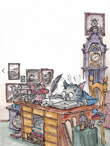 The Adventures of Kingsley Cat- Private book commission.