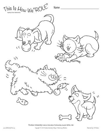 Purdue University Puppy & Kitten Healthcare Activity Sheets