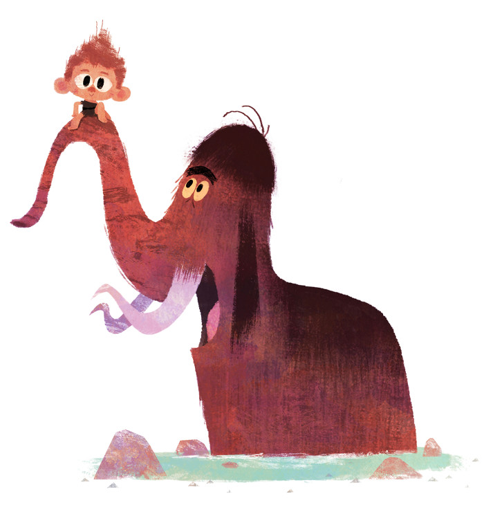 Mammoth and Boy - A Prehistoric Tale