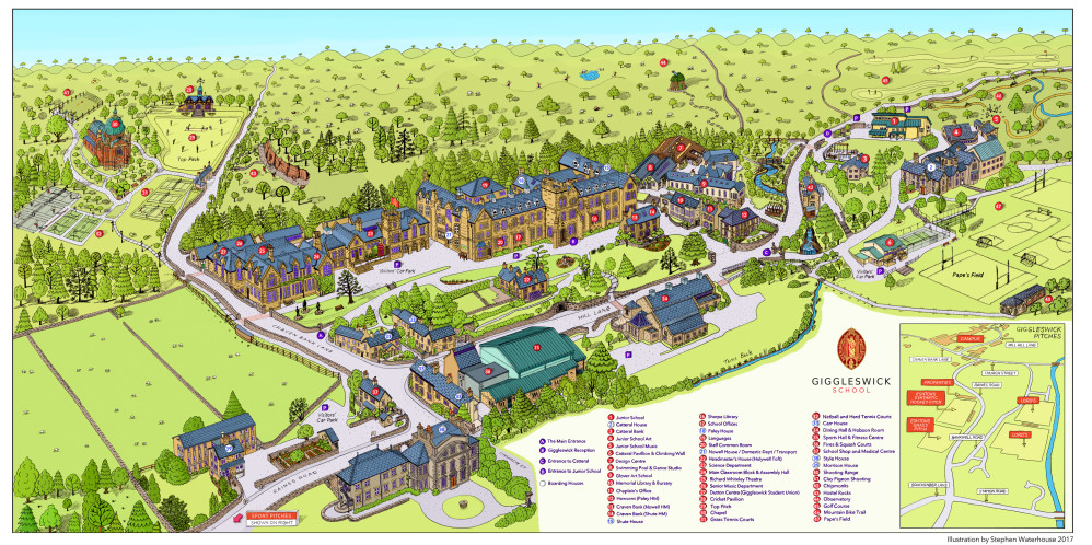 Giggleswick School Site Map