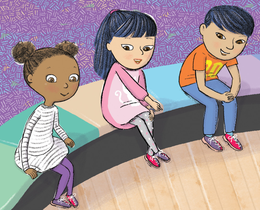 "detail from ""Yes, I Can! A Girl and Her Wheelchair,"" illustrated by Violet Lemay"