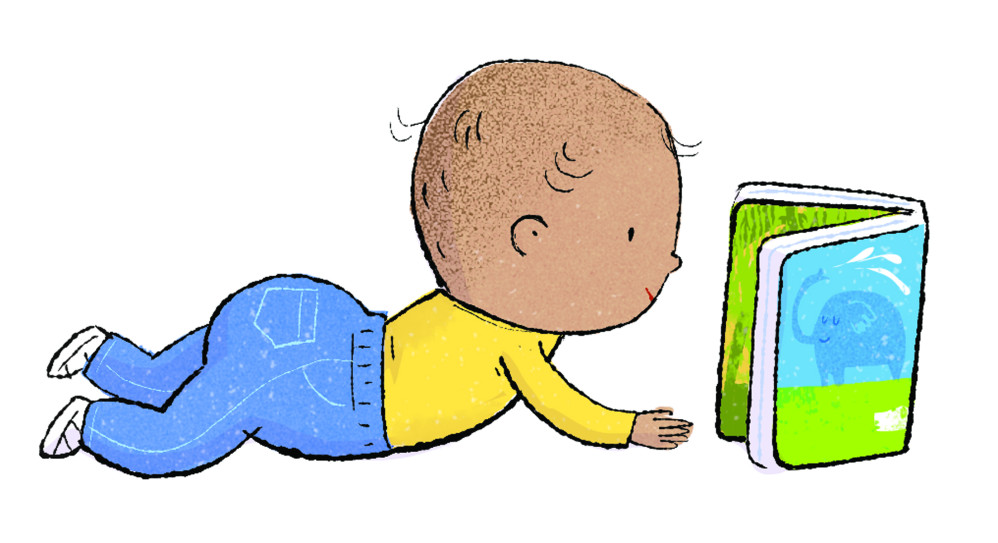 """detail from """"Library Babies,"""" illustrated by Violet Lemay"""