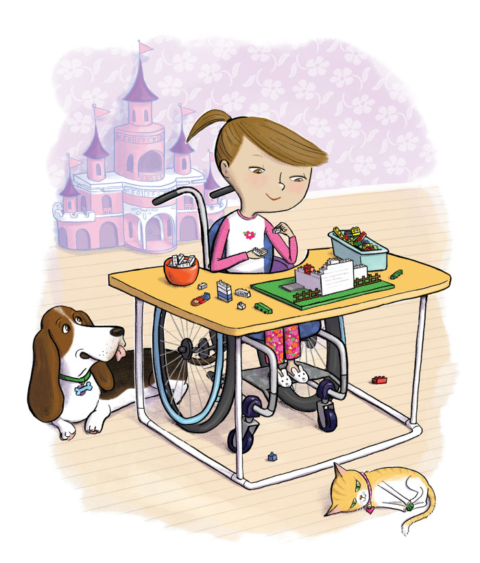 """Yes, I Can! A Girl and Her Wheelchair,"" illustrated by Violet Lemay"