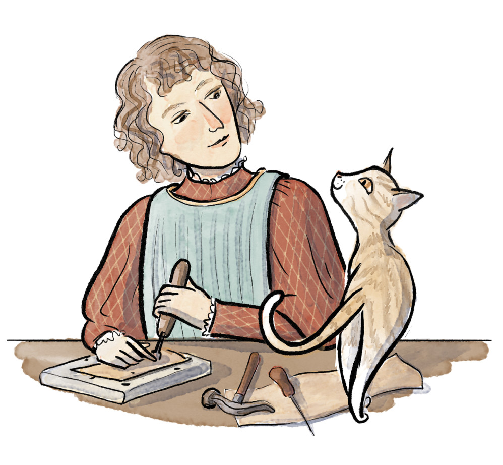 """""""Artists and Their Pets,"""" illustrated by Violet Lemay"""