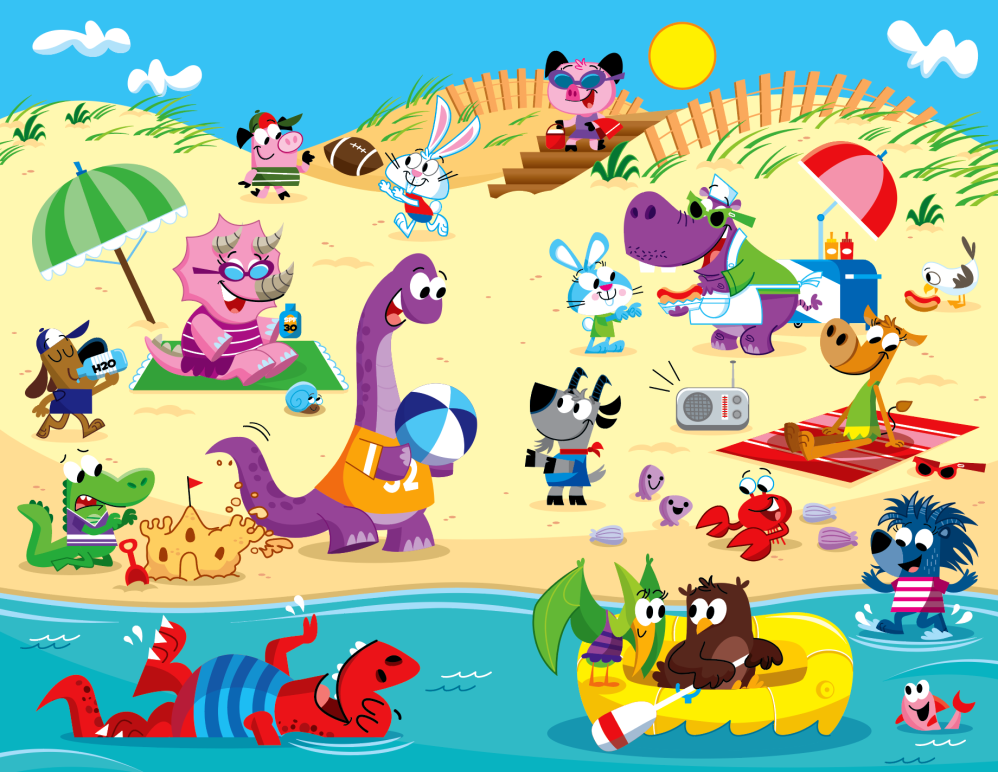 Dinos at the Beach