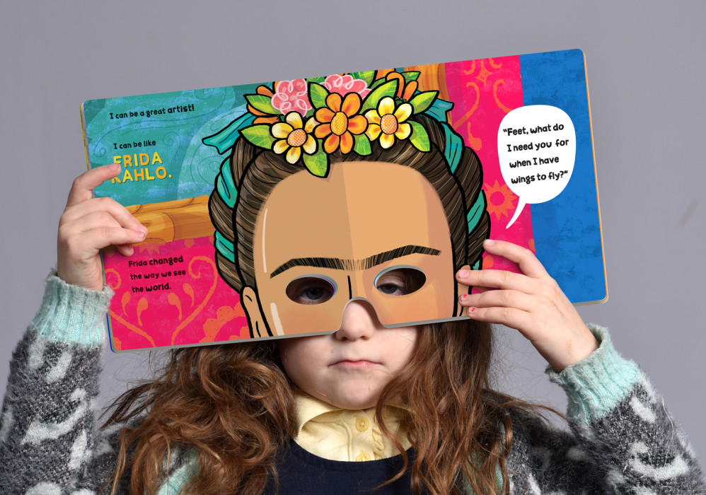 """I Can Be Like... A Book of Masks of Inspiring Women,"" illustrated by Violet Lemay"