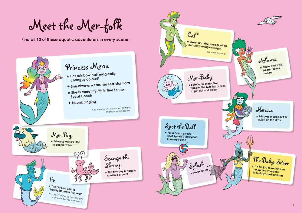 "Characters Page from ""Where's the Mermaid?"""