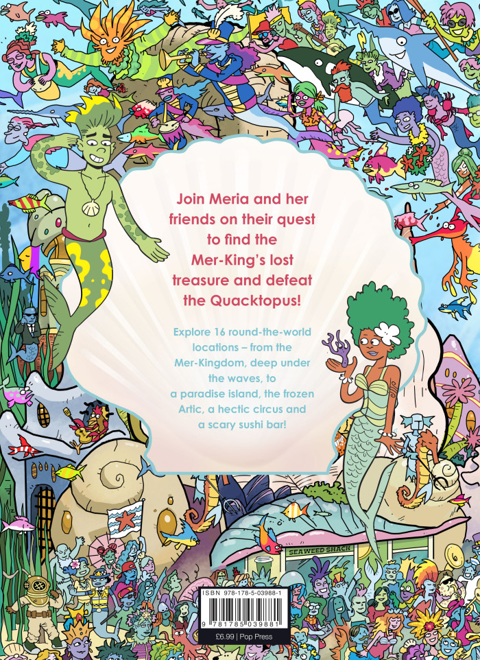 """Where's The Mermaid"" Back Cover"