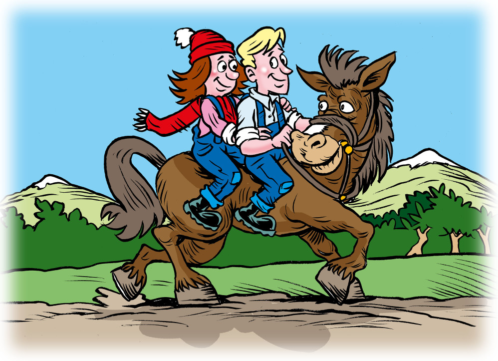 Riding Dolly the Horse