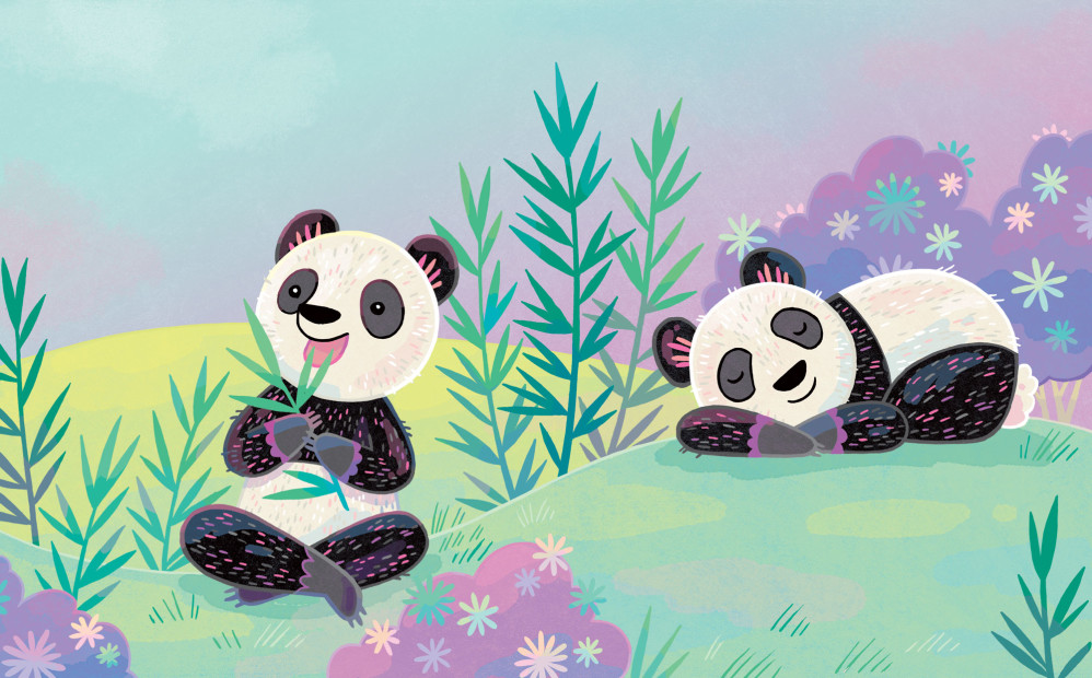 Title illustration from Peaceful Like a Panda