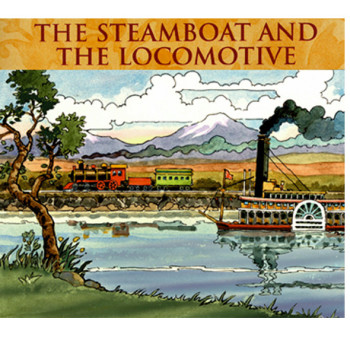 the steamboat and locomotive