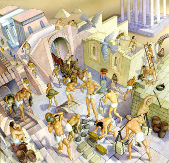 Israelites are building the city