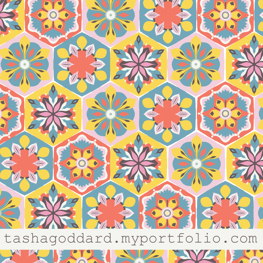 Summery hexagon pattern