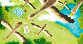"""illustration from book """"Hug Me"""" published by Igloo book"""