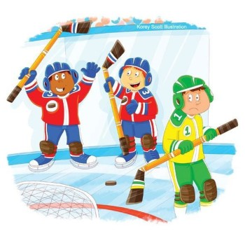 Hockey Sportsmanship - - from Pat Nicholson's Children's Book - A Reflection of We