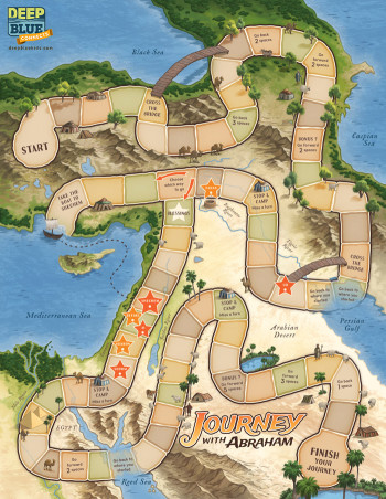 Journey with Abraham Game Board