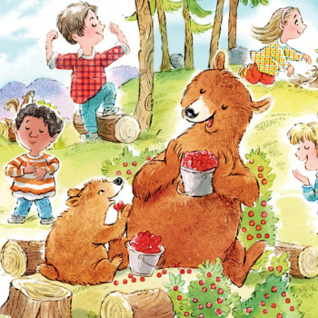 Bears in a berry patch