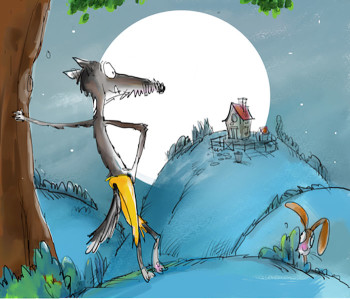 Wolf And The Dog Aesop's  Fables.