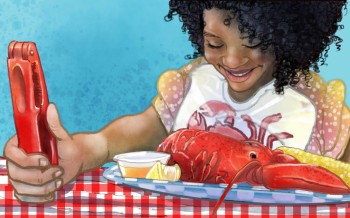 Woman Eating Lobster from What Do Teachers Do for Summer Vacation