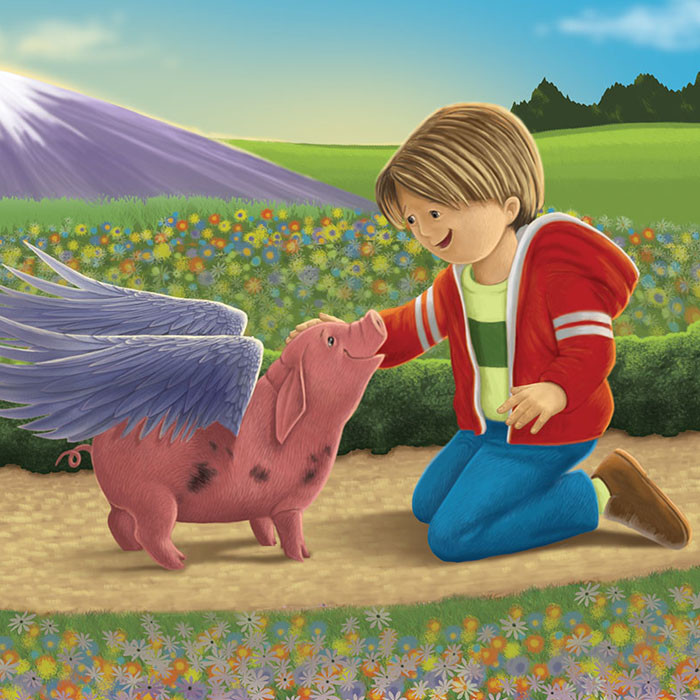 """Boy with """"The Flying Pig"""""""