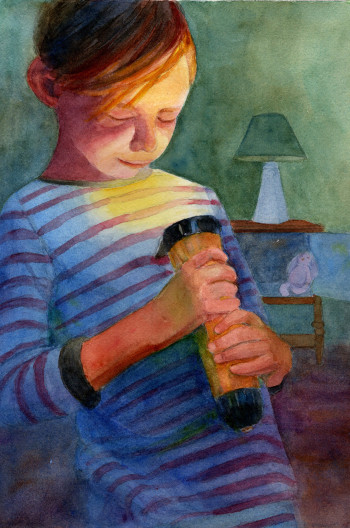"""Illustration from """"Charles and the Magic Flashlight"""""""