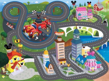 Mickey Mouse Play Rug Illustration