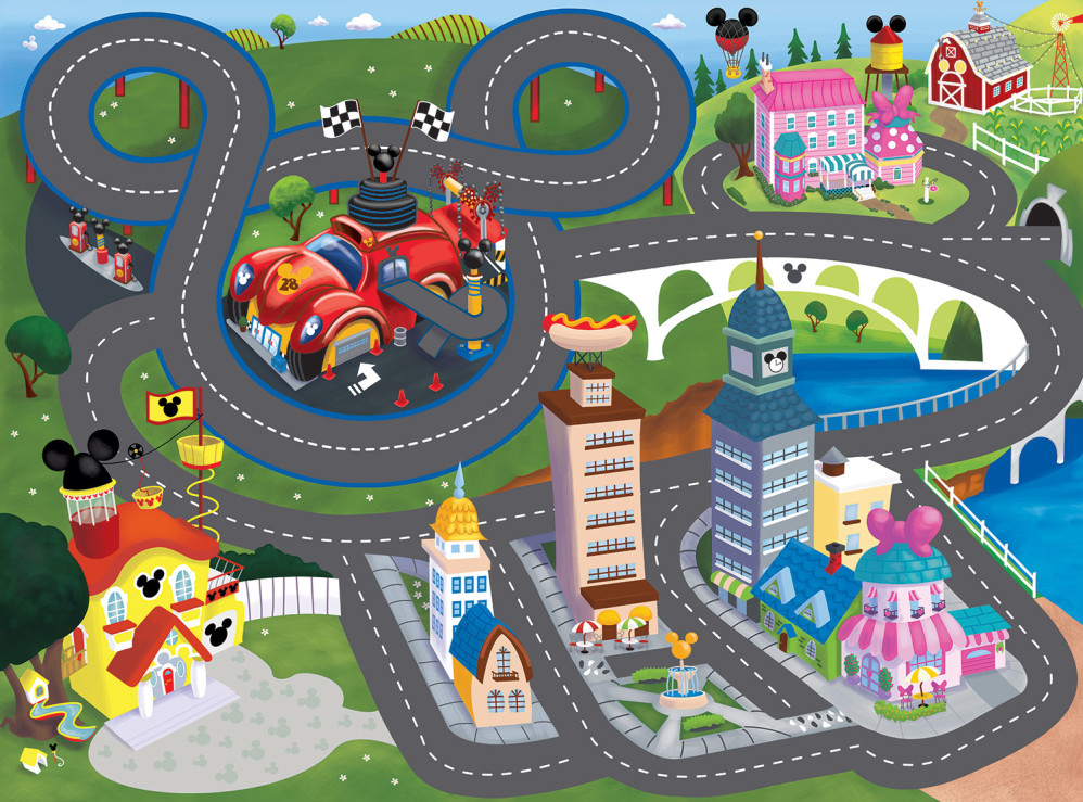 Mickey Mouse Play Rug Illustration sold in Target