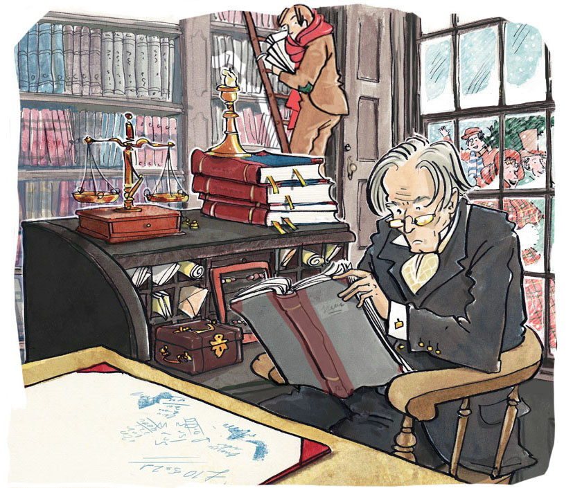 Scrooge's Office, A Christmas Carol by Charles Dickens extract published by Collins Educational UK