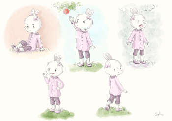 Character design Fifi the rabbit