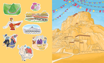 Educational Illustrations - China/Tibet Picture book