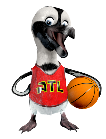 Basketball penguin