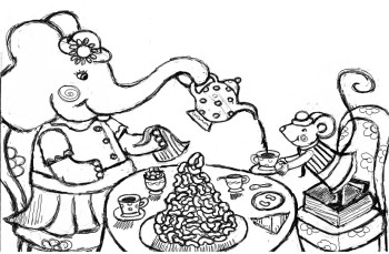 Elephant and Mouse Tea Party
