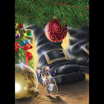 The Mouse In Santa's House