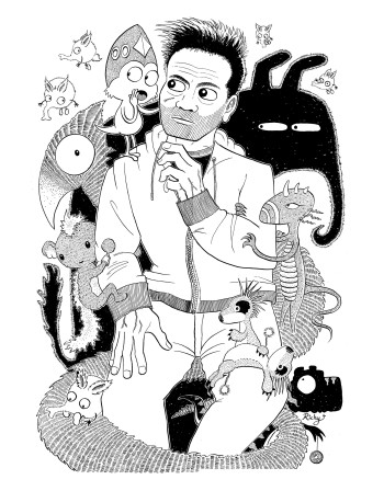 Self-Portrait with creatures