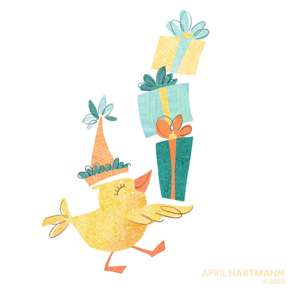 Chick with Gifts