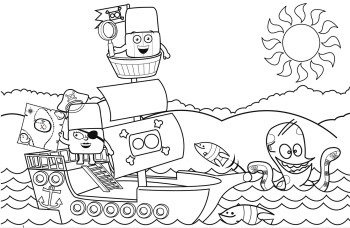 Alphablocks Colouring Page