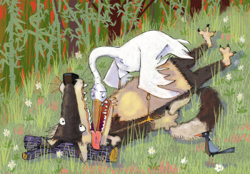 The Stork and the Wolf