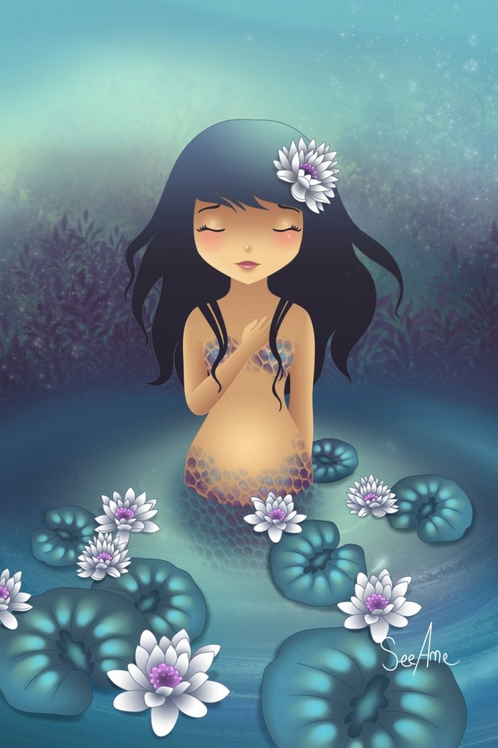 The mermaid and the water lilies