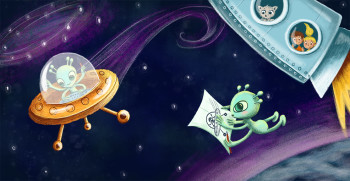 Space adventures with aliens