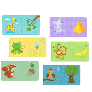 Where animals live duo-set puzzle