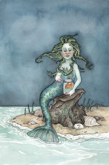 A Mermaid and Her Fish