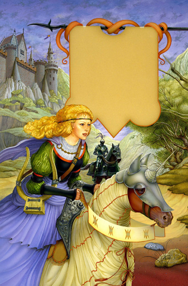 Cover of The Knight The Harp and The Maiden