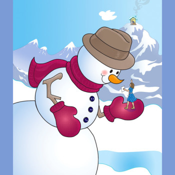 Snowman and Mommy