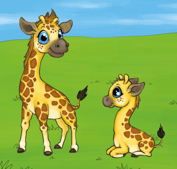 Two little Giraffes